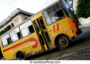 bus, publiek, habana