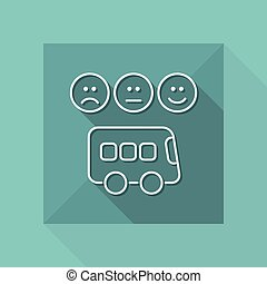 Bus rating icon - Thin series