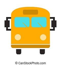 bus, reizen, -, illustratie, symbool, vector, shuttle, icon.