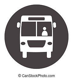 bus round icon