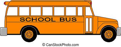 bus, school, gele