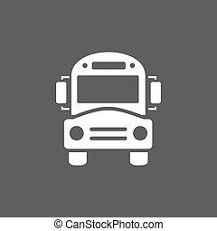 Bus school icon on a dark background