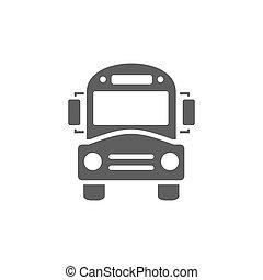Bus school icon on a white background