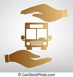 Bus sign Golden Effect.