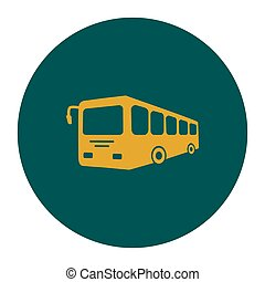 Bus sign icon.