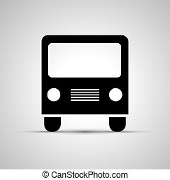 Bus silhouette, front view simple black icon