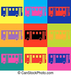 Bus simple icon