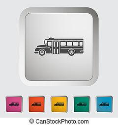 bus, skole, icon., lejlighed