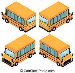 bus, skole, konstruktion, 3