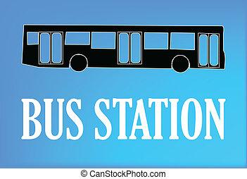 bus station, tegn