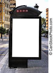Bus Stop Advertisement - A Big Blank Bus Stop Advertisement...