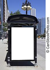 Bus Stop Advertisement - Blank Bus Stop Advertisement