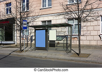 Bus - stop in city center