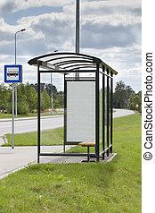 bus stop, inzerát, předměstí