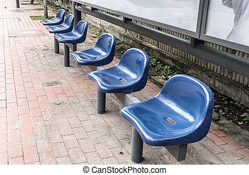 Bus stop seat