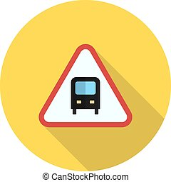 Bus Stop sign - Bus, stop, sign icon vector image. Can also...