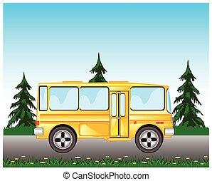 bus, straße