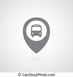 Bus symbol pointer on gray background
