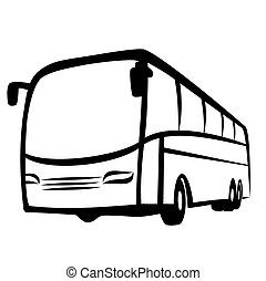 Vector illustration : Bus on a white background.