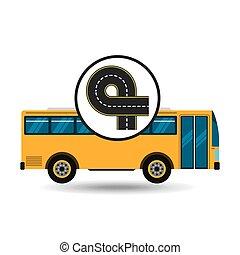 bus transport public endless road