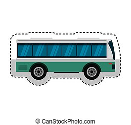 bus transport public icon