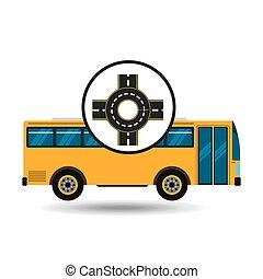 bus transport public roundabout road