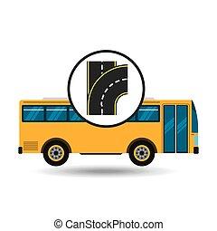 bus transport public type road