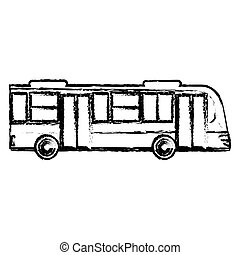 bus transport vehicle sketch