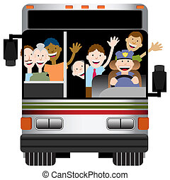 Bus Transportation - An image of the front view of a bus ...