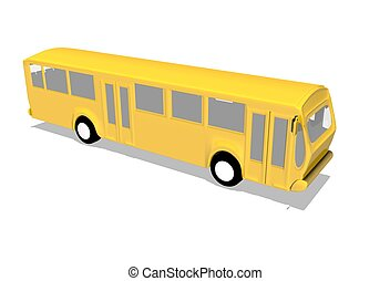 Bus Transportation - illustration in 3d of a bus