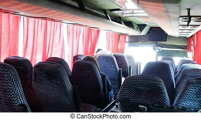 bus travel empty seats in cabin - bus travel empty seats in...