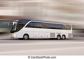 Bus travel - Tour bus with added motion blur