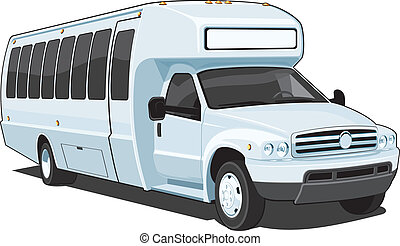 Bus - Vector isolated bus without gradients EPS8 format.