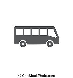 Bus vector icon on white background