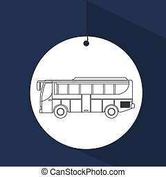 bus vehicle transport public icon