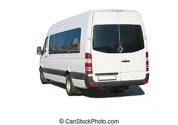 bus white passenger isolated