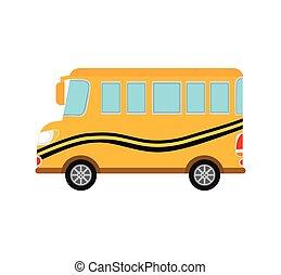 bus yellow auto vehicle transportation icon