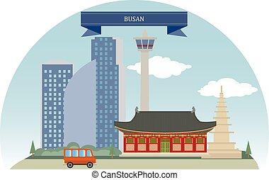 Busan, Korea. South Korea's second largest metropolis after Seoul