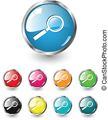 busca, ícone, vetorial, jogo