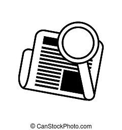 busca, diariamente, letra, jornal, notícia, linha
