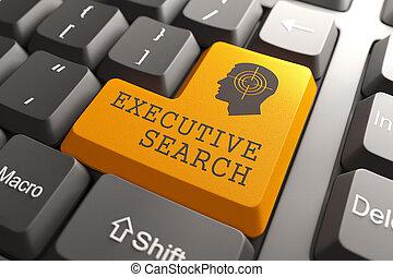 busca, executivo, button., teclado