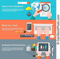 busca, infographic, soluções