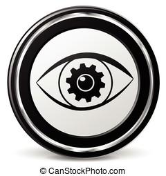 busca, olho, ícone