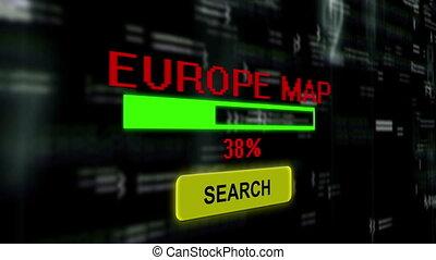 busca, online, para, europa, mapa