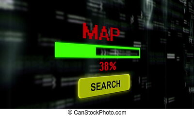 busca, para, mapa, online