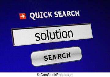busca, solução