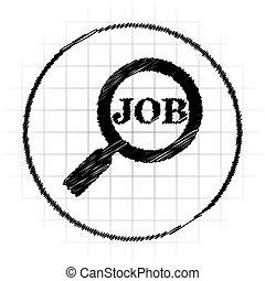busca, trabalho, ícone