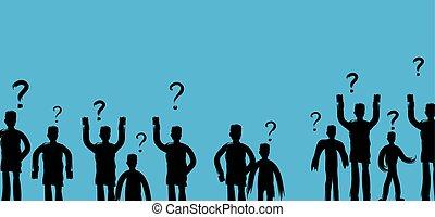 busca, web-projects, pessoas, pensando, comunicação, coletivo, uso, ilustração, vetorial, soluções, aplicações, problemas