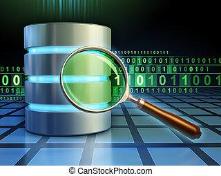 buscando, base de datos