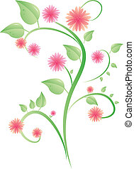 busch blumen rosa abbildung busch gr n blumen karikatur. Black Bedroom Furniture Sets. Home Design Ideas